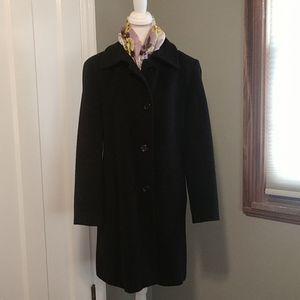 Camel Hair Black Coat